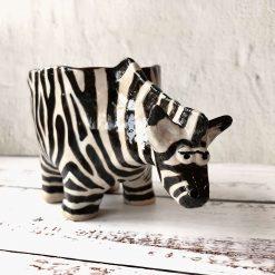 Handmade Ceramic ZEBRA Planter