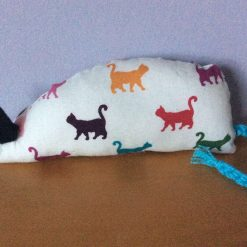Handmade Catnip Mouse- Multicoloured Cats - Cat Toy with Extra Strong Catnip - FREE POSTAGE