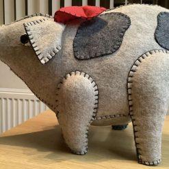 Hand made decorative animal - this little piggy