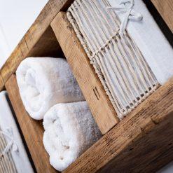 Bathroom Storage Unit - Rustic Wooden Shelving Unit - Free Standing