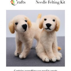 MillyRose Crafts Labrador Dog Puppy Needle Felting Kit