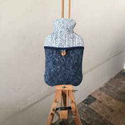 Cover - Hot Water Bottle, 2L - By the Sea - Batik, 100% Cotton, Quilted