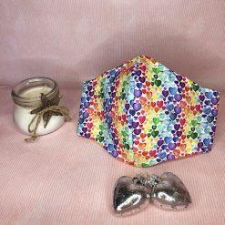 Hair Scrunchie - Rainbow Hearts