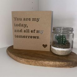 "Handmade recycled ""you'll do"" Valentine's card"