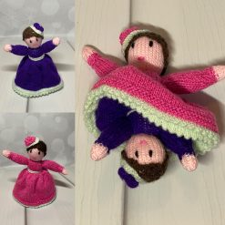 Topsy turvy knitted doll
