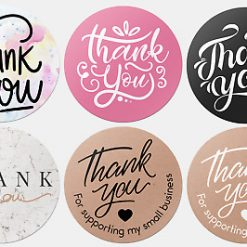 Round Thank You For Your Order Personalised Stickers
