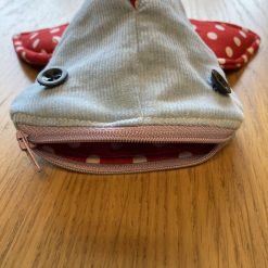 'Blue with Red Polkadots' Shark Pencil Case