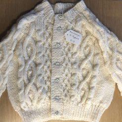 Children's Hand knitted Aran cardigan + 2-3 years