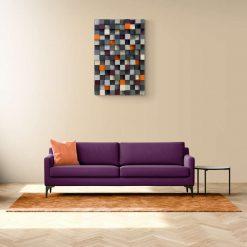 Plum and tangerine wall art