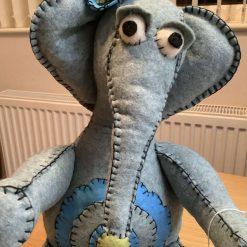 Handmade felt decorative animal - Ellie Elephant
