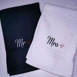 Wedding Towel set - Mr & Mrs, Mr & Mr or Mrs & Mrs