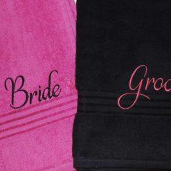Wedding Towel set - Bride & Groom, Groom & Groom or Bride & Bride