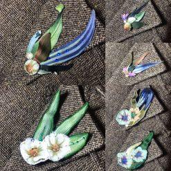 Kazamaroo brooches - fabric brooch or hair clip. Matches Kazamaroo face masks