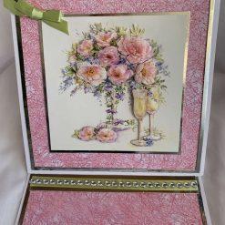 Flowers in vase Easel Card