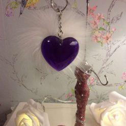 Beautiful Purple Heart key chain