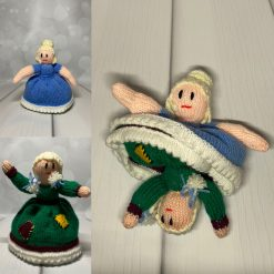 Topsy turvy knitted doll - Cinderella