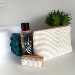 Small Wash Bag - Neutral Stripes