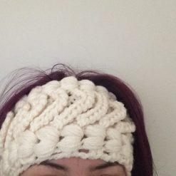 Chunky cream crochet  headband