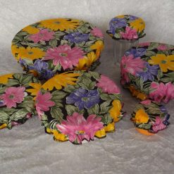 BRIGHT FLORAL FRENZY FABRIC BOWL COVERS - SET OF 6