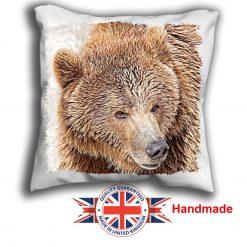 Brown Bear Cushion Cover, Brown Bear Cushion, 6 sizes, Handmade