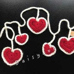 Hand crochet Heart Bunting