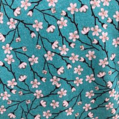 Ladies teal tunic top with blossom print Size 12-14 3