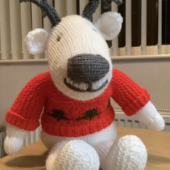 Hand knitted animal collection - Reindeer, rabbit, sheep - NOW ONLY REINDEER LEFT