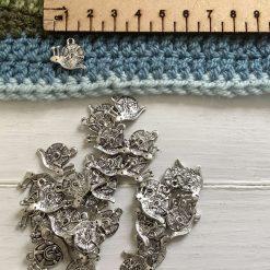 10 x butterfly Tibetan silver charms 1.5cm