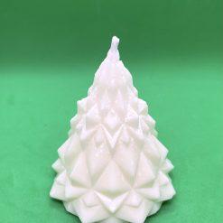 Fresh linen sculptured candle