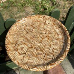Plywood geometric platter