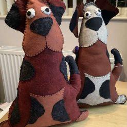 Hand made decorative animal cushion - Dozy Dog