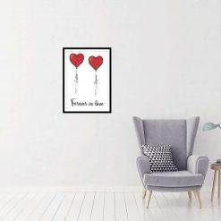 Personalised Hearts Print