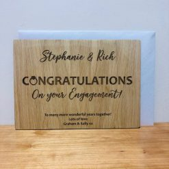 Personalised 'Congratulations on Your Engagement' Wooden Card