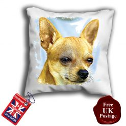 Chihuahua Cushion Cover, Chihuahua Cushion, Chihuahua Pillow, 6 Sizes, Handmade
