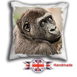 Chimpanzee Cushion Cover, Chimpanzee Cushion, 6 sizes, Handmade