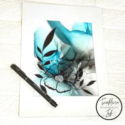 Original Alcohol Ink A4 Artworks - Bloom