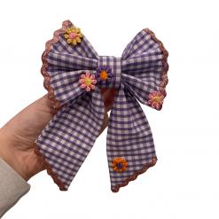 Purple Picnic sailor bow