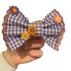 Purple Picnic bow tie
