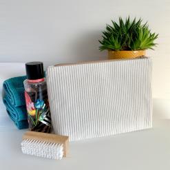 Wash Bag - Neutral stripes