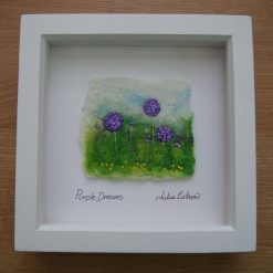 Felted Picture.  Purple Dreams.