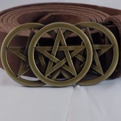 Three Pentacle leather Belt