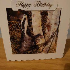 Gorilla ' number 1 dad' decoupaged handmade card
