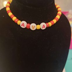 Child's beaded name necklace