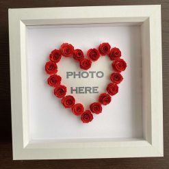 Rose heart photo frame - perfect Valentine's Day gift