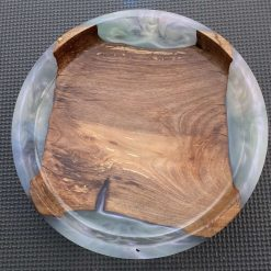 Walnut and Pink Resin Platter