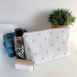 Wash Bag - Pink hearts