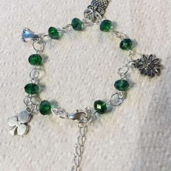 Bracelet, chain link with charms