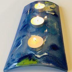 Fused Glass Candle Bridge