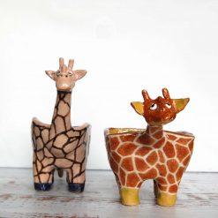 Handmade Ceramic GIRAFFE Planter
