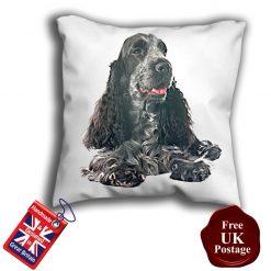 English Cocker Spaniel Cushion Cover, English Cocker Spaniel Cushion, English Cocker Spaniel Pillow, 6 Sizes, Handmade